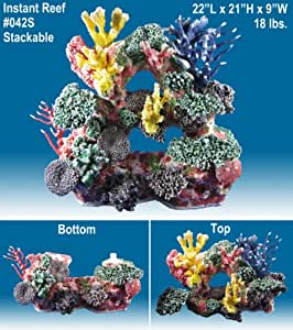 Instant reef r042s artificial coral reef for Artificial coral reef aquarium decoration