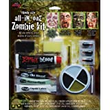 Family Size All in One Zombie Kit Costume Makeup (Color: Multi-colored, Tamaño: One Size)
