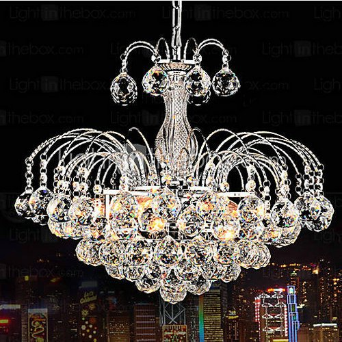 Lightinthebox® European-Style Luxury 3 Light Chandelier With Crystal Balls, Ceiling Light Fixture With Bulb Included Fit For Dining Room, Bedroom, Living Room