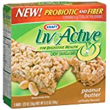 Kraft Live Active Bars, Peanut Butter, 5-Count Boxes (Pack of 5) ~ Kraft