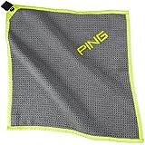 Ping Diamond Towel, Steel/Leaderboard Lime