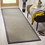 "Safavieh Natural Fiber Collection NF444A Herringbone Grey Brown and Grey Sisal Runner (26"" x 8)"