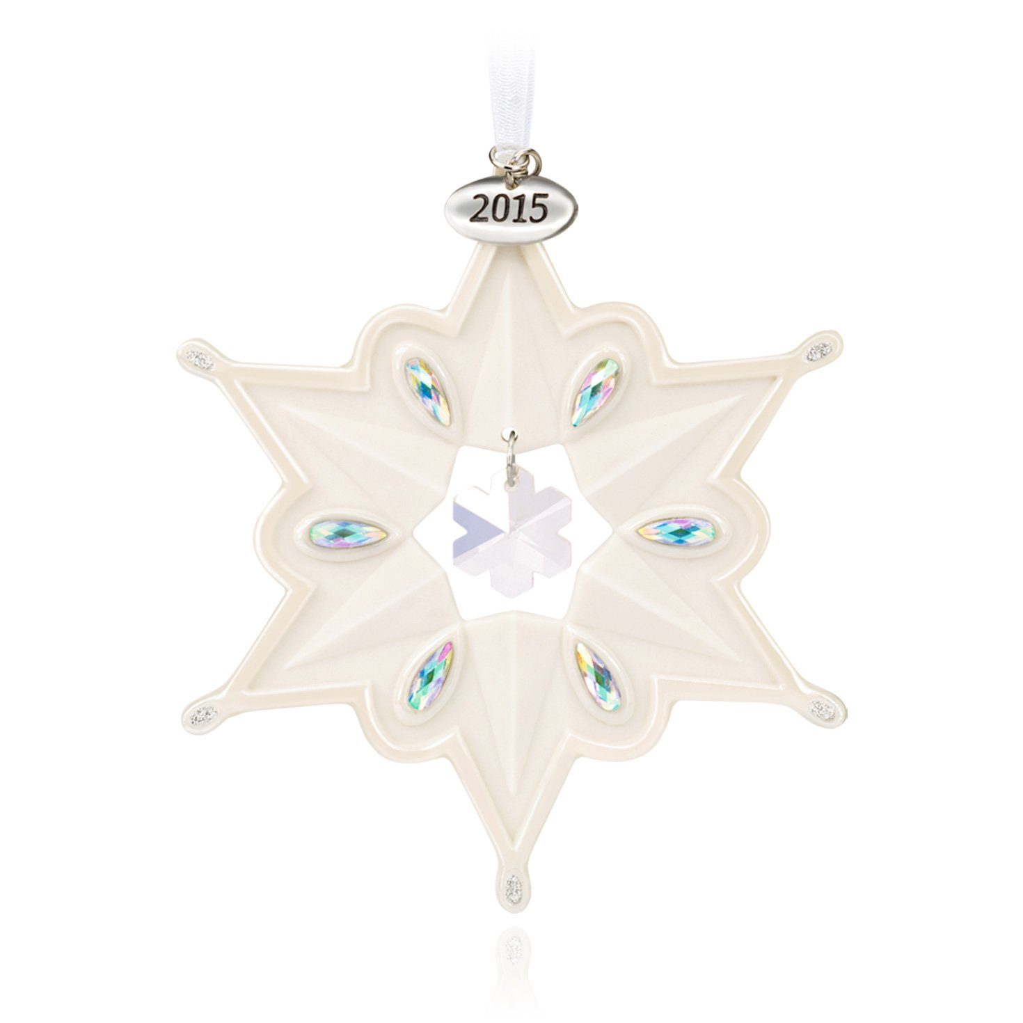 Hallmark Keepsake Ornament: Porcelain Snowflake with Rhinestones