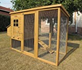 Chicken Coops Imperial Devonshire Large Chicken Coop Hen House Ark Poultry Run Nest Rabbit Hutch Box Suitable For Up To 4 Birds - Integrated Run & Cleaning Tray & Innovative Locking Mechanism