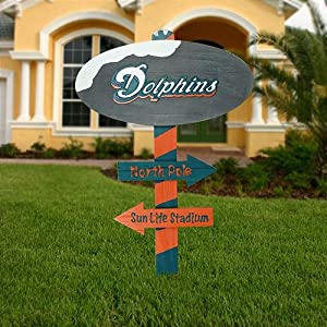 Miami Dolphins North Pole Wood Sign
