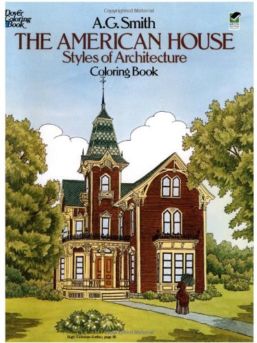 The American House Styles of Architecture Coloring Book (Dover History Coloring Book), Buch