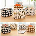 CALISTOUS 1PC Stationery Handicraft Storage Basket Linen Desk Storage Box Polar Bear