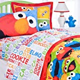 4pc Sesame Street Full Bed Sheet Set Elmo Chalk Bedding Accessories