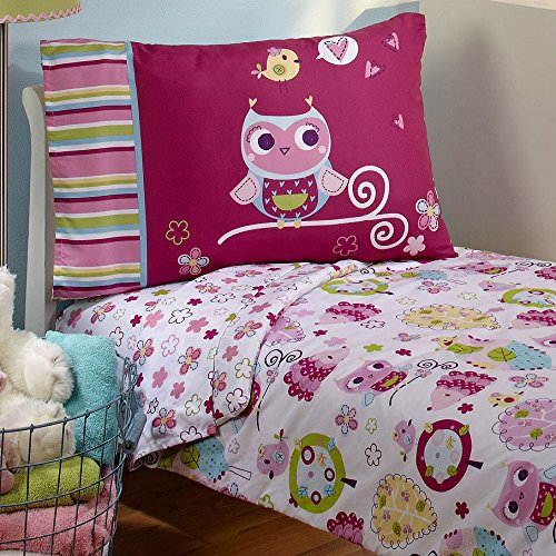 Everything Kids Toddler Bedding Set Hoot Hoot