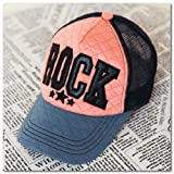Pink Forest Men Women Hat Cap Spring and Summer Influx of Korean Baseball Cap Outdoor Sports (Pink and Orange + Dark Blue Brim)