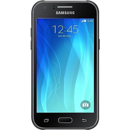 Samsung Galaxy J1 Smartphone débloqué 3G (Ecran : 4,3 pouces - 4 Go - Simple Micro-SIM - Android 4.4 KitKat) Noir