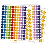 Reward Stickers (Can Be Used with My Big Star Reward Chart, Potty Training Chart and Sleep Reward Chart) 356 Stickers - 260 Colored Smiley Face Reward Stickers and 96 Gold Smiley Face Star Reward Stickers
