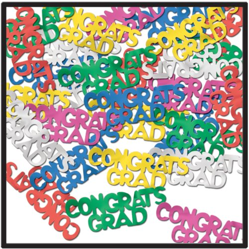 Congrats Grad Fanci-Fetti (multi-color) Party Accessory  (1 count) (.5 Oz/Pkg)