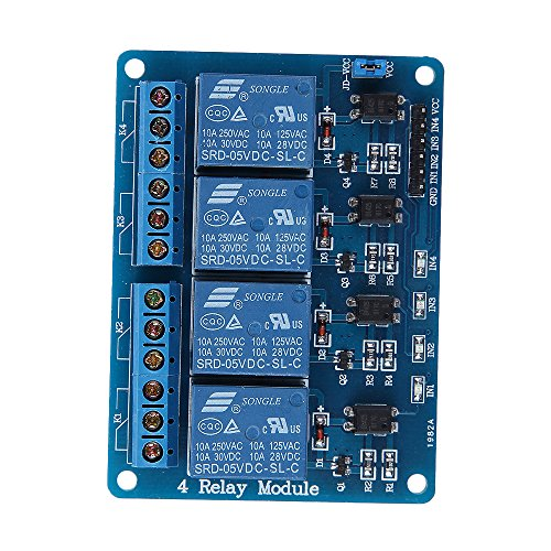 4 Channel DC 5V Relay Module Board for Arduino Raspberry Pi DSP AVR PIC ARM MSP430 (US Seller) 5pcs lot 5v low level trigger one 1 channel relay module interface board shield dc ac 220v for pic avr dsp arm mcu arduino