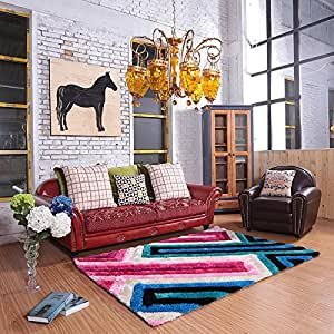 Ustide Bright Maze Pattern Area Rug For