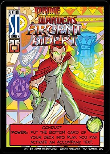 Sentinels of the Multiverse : PRIME WARDEN HERO Expansion Promo - Prime Warden ARGENT ADEPT