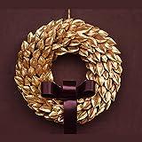 ゴールドナッツX'masリース(Mサイズ)クリスマス 金色 シンプル