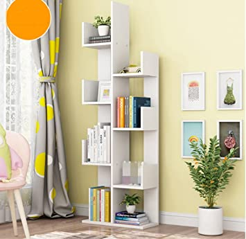 Estantería Simple Tipo de piso Madera maciza Sala Dormitorio Estantería Fácil Almacenamiento Estante Niños Pequeño estantería Estantería ( Color : Blanco )