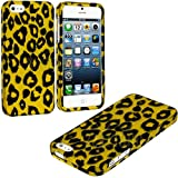 myLife Golden Yellow Leopard Print Series (2 Piece Snap On) Hardshell Plates Case for the iPhone 5/5S (5G) 5th... by myLife Brand Products
