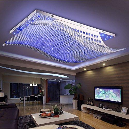 jj moderne led deckenleuchte modern und minimalistisch rechteckigen crystal led deckenleuchte. Black Bedroom Furniture Sets. Home Design Ideas