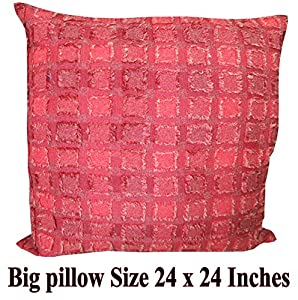Average Throw Pillow Sizes : Amazon.com - *RoyalThaiElephant *Beautiful Throw Cushion Cover/pillow Sham Handmade Size 24 X 24 ...