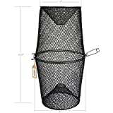 Pisfun Minnow Trap Crawfish/Ell/Grass Shrimp/Crawdads Trap Steel Bait Traps Storage Fishing Net Bucket