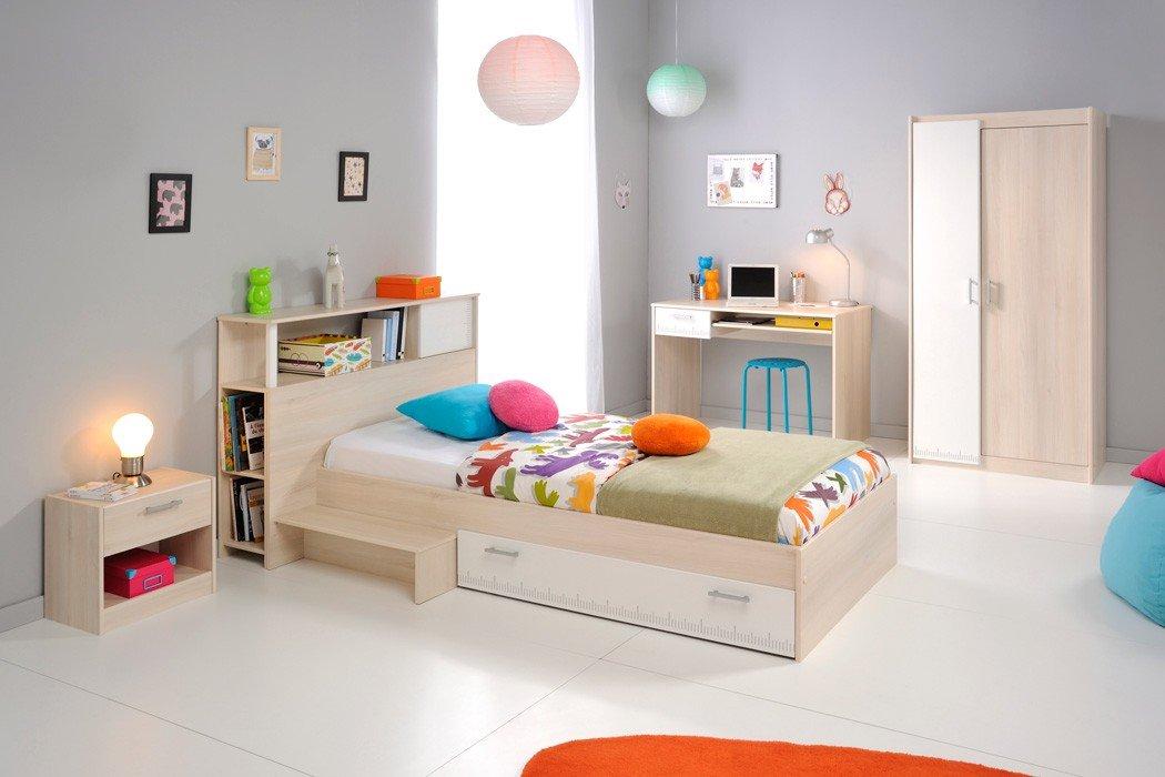 Jugendzimmer Chiron 15 Akazie Nb Jugendbett 90×200 Kinderbett Bett Regal Nachttisch Nako Schreibtisch Kleiderschrank Schrank Kinderzimmer kaufen