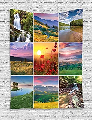 Ambesonne Home Decorations Collection, Digital Printed Wall Hanging Tapestries