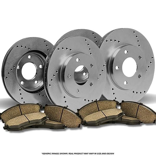 Front + Rear Rotors w//Ceramic Pads OE Brake Kit