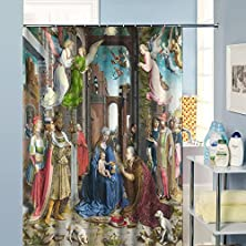"buy European Vintage Style 72"" X 72"" Polyester Fabric Waterproof Angel Goddess Shower Curtain - Great Gift"