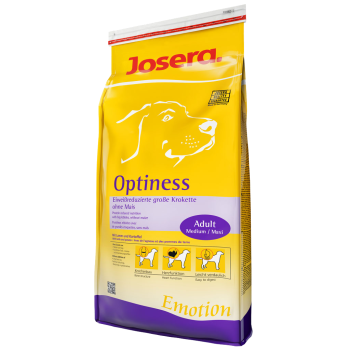 Josera Optiness Hundefutter -  schonende Kost ohne Weizen, Soja und Mais.
