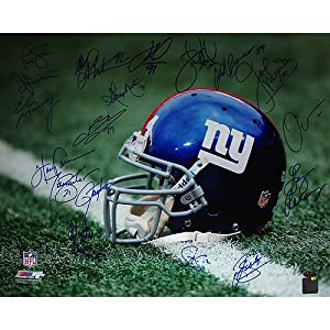 NY Giants Greats Multi Signed Stadium Shot 16x20 Photo (18 Sig) by Steiner Sports