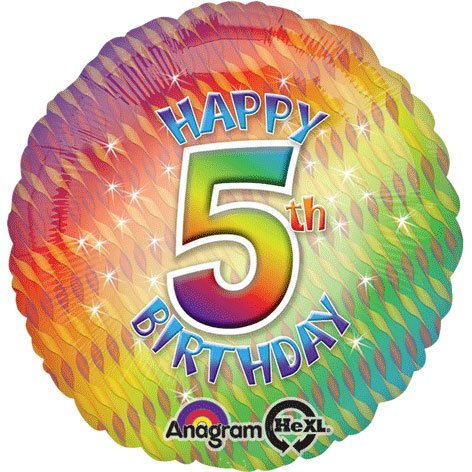 Amscan Happy 5th Birthday Circle Foil Balloon HS40