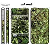 I4 Apple iPhone 4 Designer Skin Decal Sticker with ANTENNA GUARDS & Digital Wallpaper- Weeds2-Skunk-420