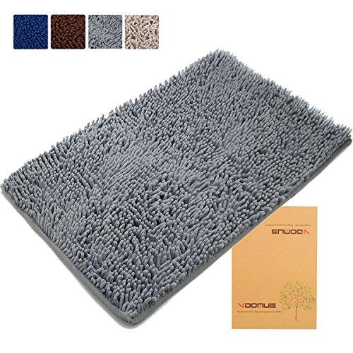 updated-vdomus-non-slip-microfiber-shag-bath-mat-bathroom-mats-shower-rugs-gray-20-x-32-inches