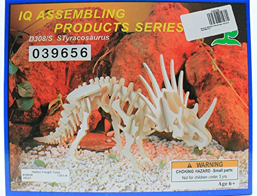 IQ Assembling Products Series Balsa Wood 3D Puzzle STyracosaurus