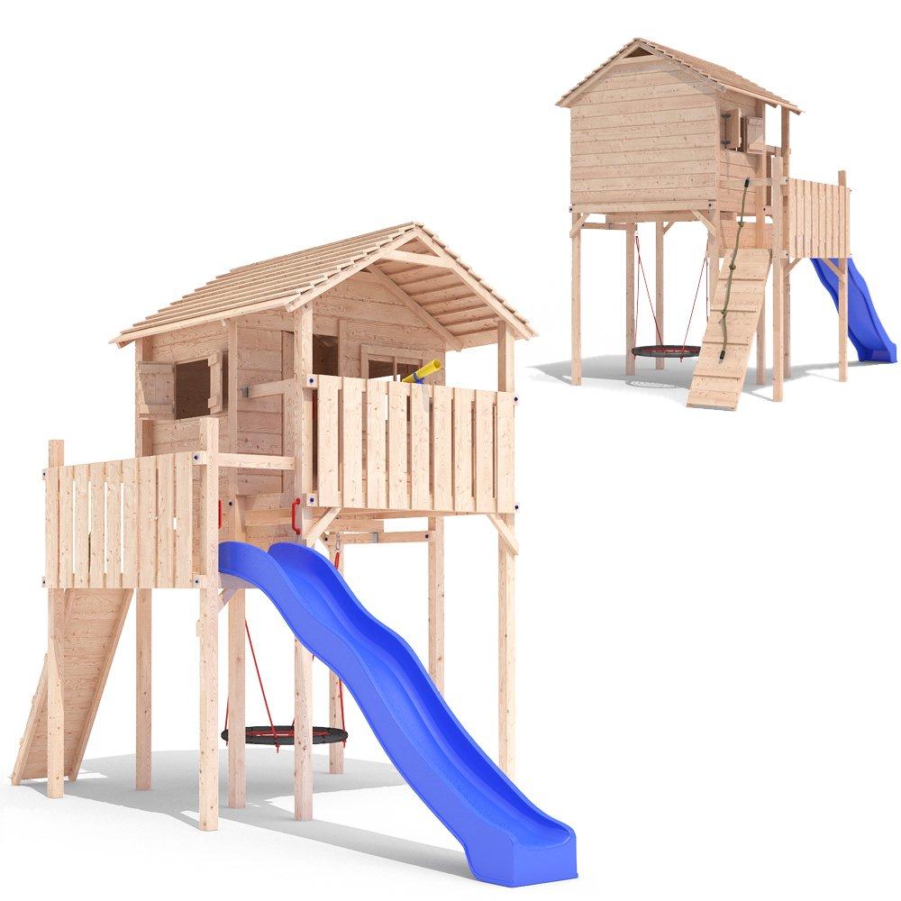 DOMIZILIO Spielturm Spielhaus Kletterturm Spielwelt Rutsche Stelzenhaus Baumhaus günstig online kaufen