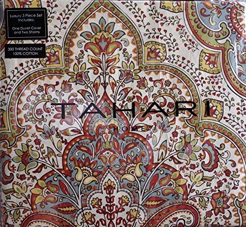 Tahari Sheets Sale: Tahari Full / Queen Size Duvet Cover Set Rust, Green And