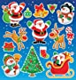 12 Sheets of Christmas Stickers - Free Delivery