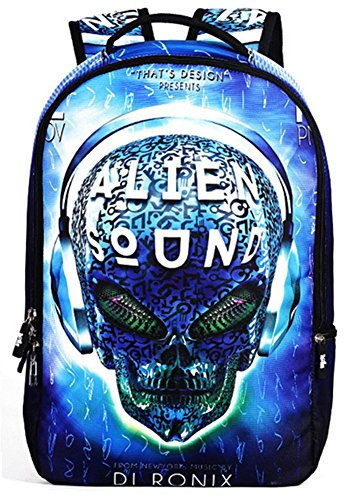 yaagle-skull-22l-personality-creative-printing-backpack-for-youth-teenager-student