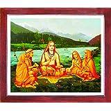 1508-Kanchi Sankaracharyar-Teak (35.5x43)