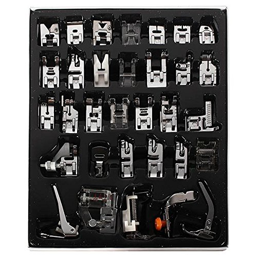 TAPCET 32Pcs Domestic Sewing Machine Presser Foot Feet Kit Set For Janome Brother Singer by TAPCET