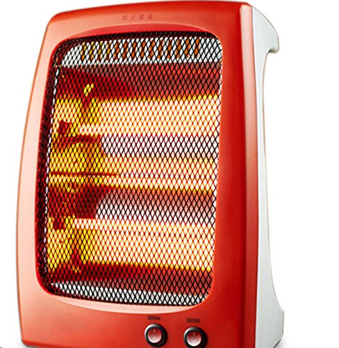 Tree Ccc Stand-Up Quartz Heater W/ 2 Heat Settings - 300/600W (One Size, Red)