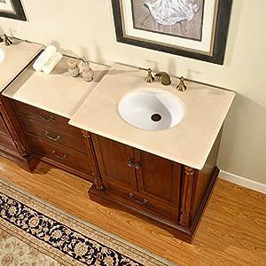 55 5 single sink marble top bathroom vanity modular 2 piece cabinet furniture 270c for Modular bathroom vanity pieces