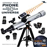 Celestron - StarSense Explorer LT 80AZ Smartphone App-Enabled Telescope - Works with StarSense App to Help You Find Stars, Planets & More - 80mm Refractor - iPhone/Android Compatible (Tamaño: LT 80 Refractor)
