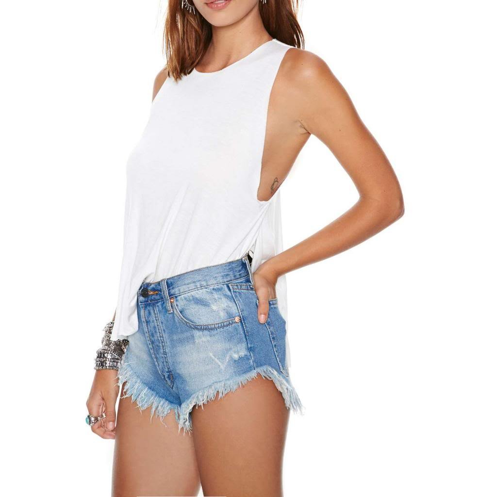 Women's Vintage Levi Shorts Fray Cut Off Denim Distressed High Waisted 4