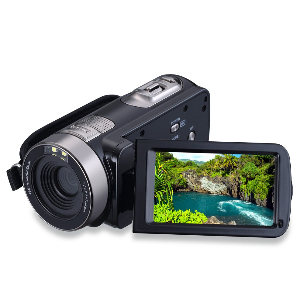 Sereer HDV-301 FHD 1080P Digital Video Camera Camcorder Night Vision 24MP 3 Inch Touch Screen