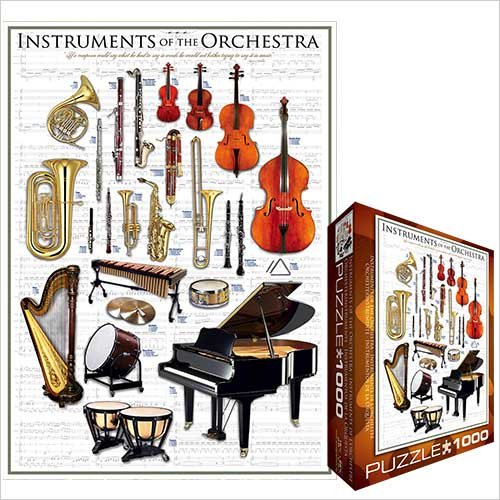 Instruments of the Orchestra 1000 Piece Jigsaw Puzzle Eurographics
