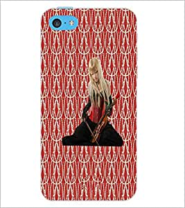 PrintDhaba Violin Girl D-5654 Back Case Cover for APPLE IPHONE 5C (Multi-Coloured)