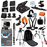 GoPro HERO4: Silver Edition + Everything You Need For GoPro Hero 4: 2 Extra Replacement Batteries + Tripod Bundle + 32GB Memory + Backpack + Gopro Case + All in One Outdoor Kit & Much More!!